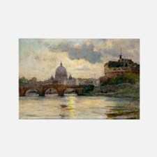 St Peter's Rome From The Tiber Magnets