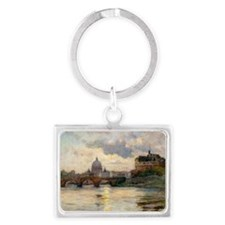 St Peter's Rome From The Tiber Keychains