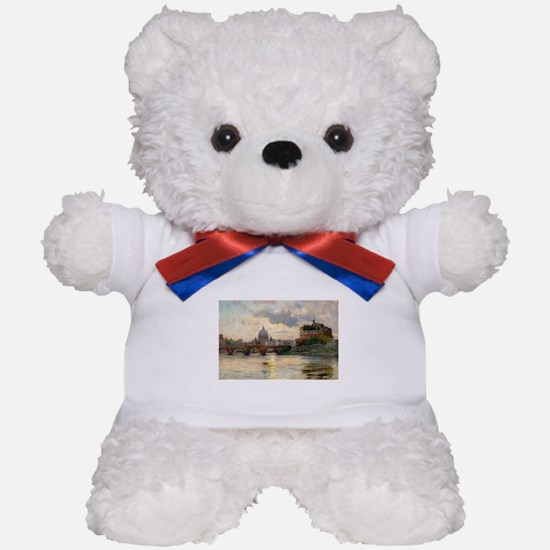 St Peter's Rome From The Tiber Teddy Bear