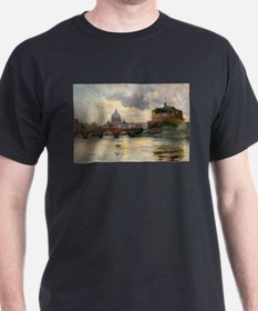 St Peter's Rome From The Tiber T-Shirt