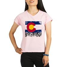 Breckenridge Grunge Flag Performance Dry T-Shirt