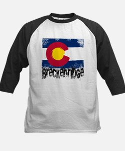Breckenridge Grunge Flag Kids Baseball Jersey