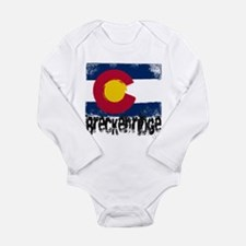 Breckenridge Grunge Flag Long Sleeve Infant Bodysu