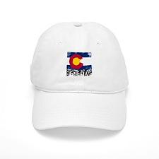 Breckenridge Grunge Flag Baseball Cap