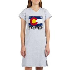 Breckenridge Grunge Flag Women's Nightshirt