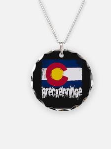 Breckenridge Grunge Flag Necklace