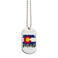 Breckenridge Grunge Flag Dog Tags