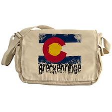 Breckenridge Grunge Flag Messenger Bag