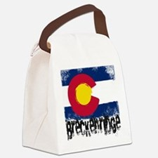 Breckenridge Grunge Flag Canvas Lunch Bag