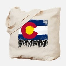 Breckenridge Grunge Flag Tote Bag