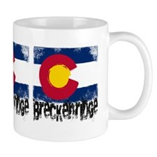 Breckenridge Grunge Flag Small Mug
