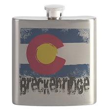 Breckenridge Grunge Flag Flask