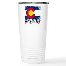 Breckenridge Grunge Flag Travel Mug