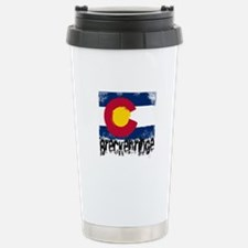 Breckenridge Grunge Flag Travel Mug