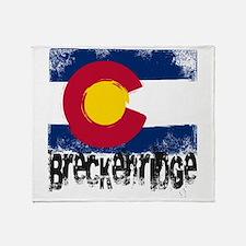 Breckenridge Grunge Flag Throw Blanket