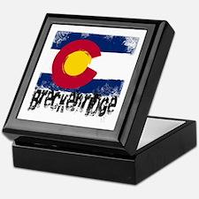 Breckenridge Grunge Flag Keepsake Box