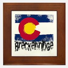 Breckenridge Grunge Flag Framed Tile