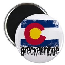 Breckenridge Grunge Flag Magnet