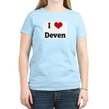I Love Deven Women's Pink T-Shirt