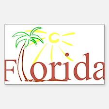 Florida Palm Rectangle Decal