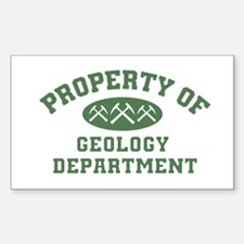 Property Of Geology Department Decal