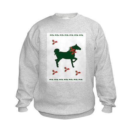 Equine Christmas Kids Sweatshirt
