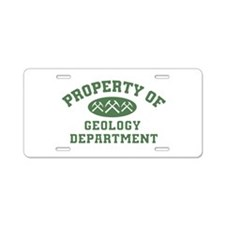 Property Of Geology Department Aluminum License Pl