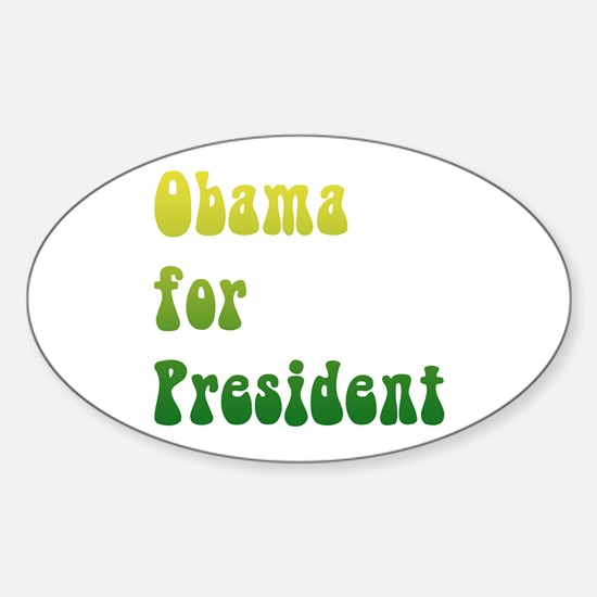 Groovy Obama Oval Decal