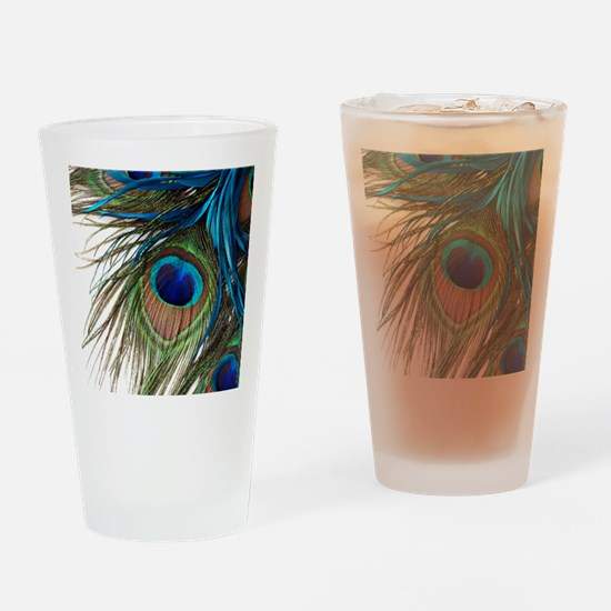 Peacock Feathers Drinking Glass