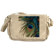 Peacock Feathers Messenger Bag