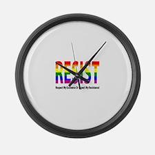 LGBT - Resist Large Wall Clock