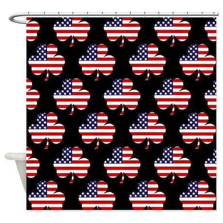 'American Shamrock' Shower Curtain