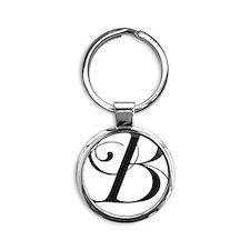 B Round Keychain