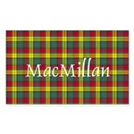 Tartan - MacMillan Sticker (Rectangle 50 pk)