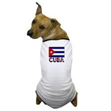 Cuba Word and Flag Dog T-Shirt