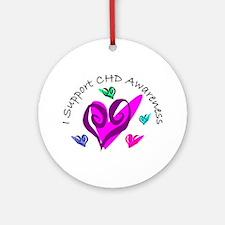 CHD Awareness Ornament (Round)