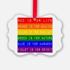 Rainbow Dymo Ornament