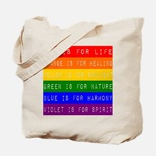Rainbow Dymo Tote Bag