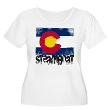 Steamboat Grunge Flag T-Shirt