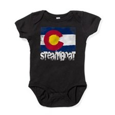 Steamboat Grunge Flag Baby Bodysuit