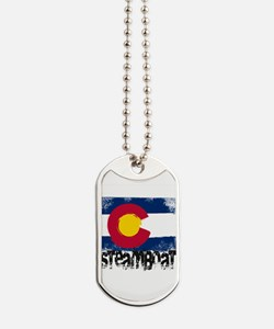 Steamboat Grunge Flag Dog Tags