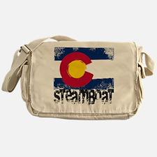 Steamboat Grunge Flag Messenger Bag