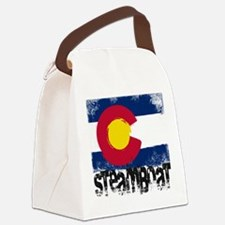 Steamboat Grunge Flag Canvas Lunch Bag
