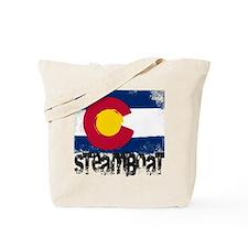 Steamboat Grunge Flag Tote Bag