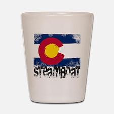 Steamboat Grunge Flag Shot Glass