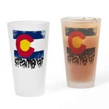 Steamboat Grunge Flag Drinking Glass