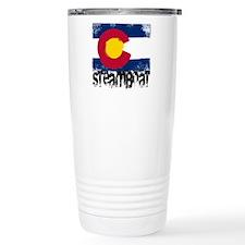 Steamboat Grunge Flag Travel Mug