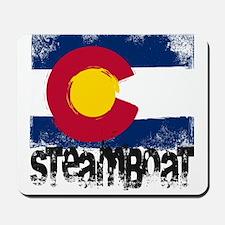 Steamboat Grunge Flag Mousepad
