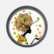 Flower Power Lady Wall Clock