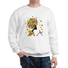 Flower Power Lady Sweatshirt
